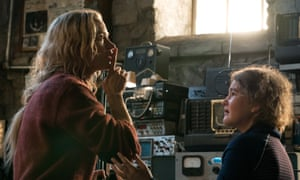 Shh … Emily Blunt and Millicent Simmonds in A Quiet Place.