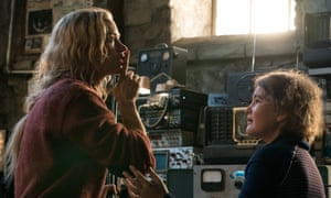 Emily Blunt and Millicent Simmonds in A Quiet Place.