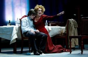 Cillian Murphy and Fiona Shaw in The Seagull, Edinburgh international festival 2003.