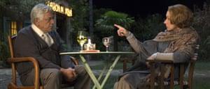 Om Puri and Helen Mirren in The Hundred-Foot Journey (2014).