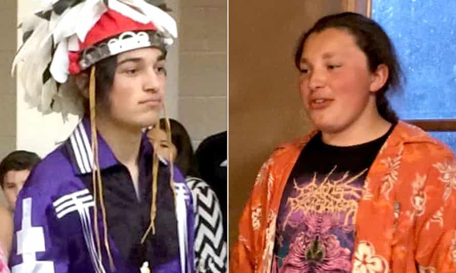 Kanewakeron Thomas Gray, left, and Skanahwati Lloyd Gray, were touring their 'dream' college, their mother said.