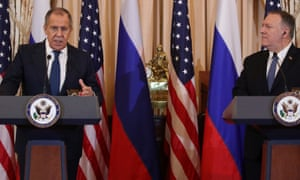 Russian foreign minister Sergey Lavrov and US secretary of state Mike Pompeo in DC.