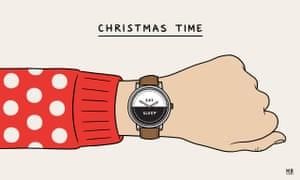 Christmas cartoon card by Matt Blease.