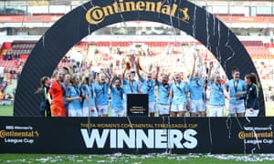 Manchester City have won the Continental Cup for a third time after beating Arsenal on penalties.