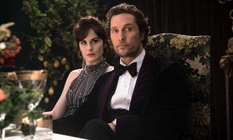 Michelle Dockery and Matthew McConaughey in The Gentlemen, directed by Guy Ritchie.