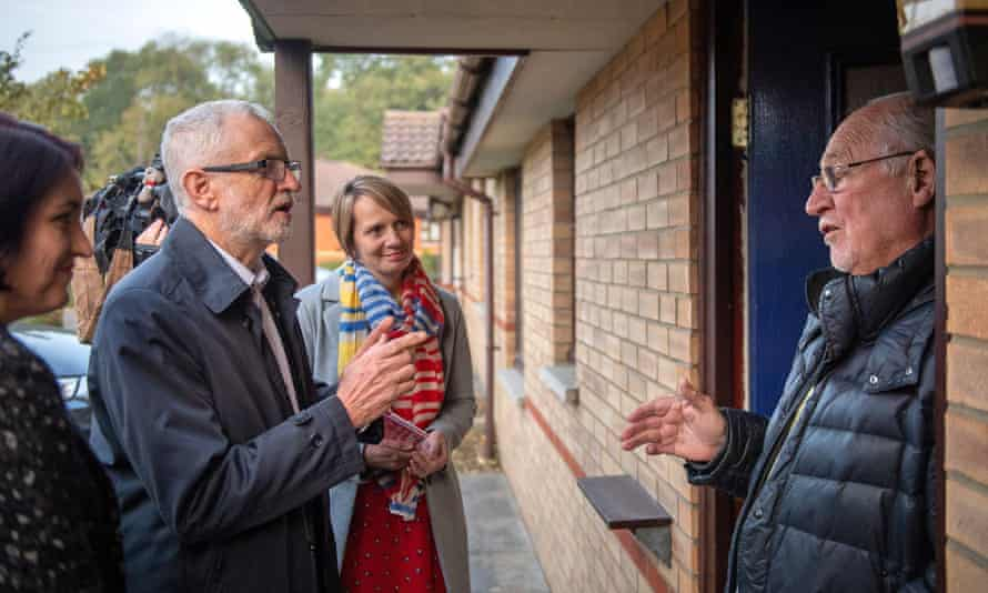 Jeremy Corbyn in Milton Keynes during the 2019 election.