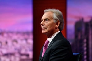 London, UKBritain's former Prime Minister Tony Blair appears on BBC TV's The Andrew Marr Show