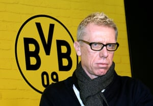 New Dortmund head coach Peter Stöger is presented to the media.