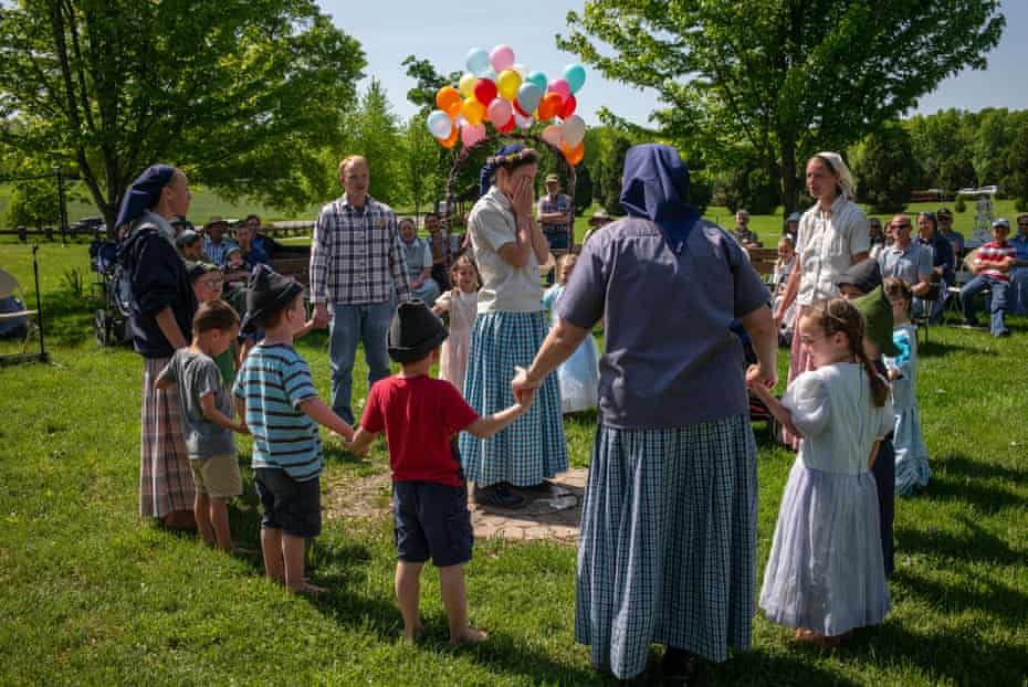 Children play games with the bride and groom at the wedding tea- a time for the children of the community to experience the impending wedding.