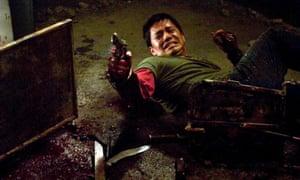 Jay Hernandez as Paxton in the 2005 horror film Hostel.