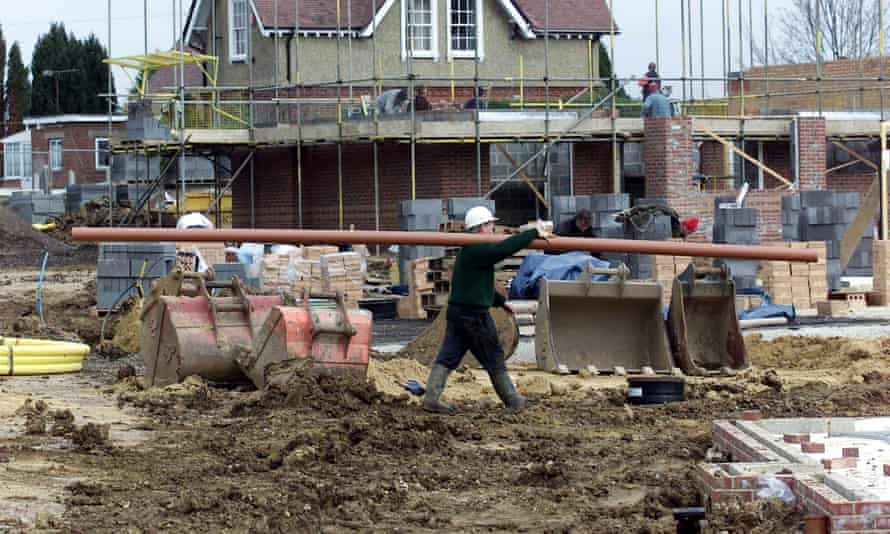 Housing construction on greenfield site