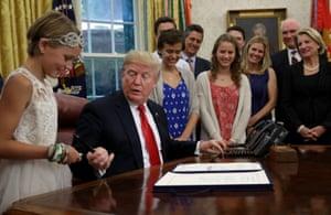 Washington DC, USA President Trump