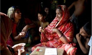 Christmas greetings from the women of Sreepur: 100% of the price of their cards goes to their project supporting women and children.
