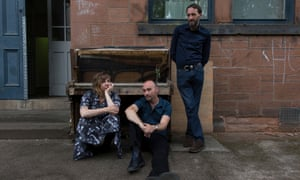 A gentle proposition … Amble Skuse, David McGuinness and Alasdair Roberts in 2017.