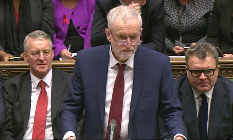 Labour leader Jeremy Corbyn at the House of Commons debate on extending airstrikes to Syria.