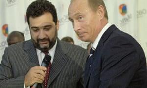 Financier Ruben Vardanyan with the Russian president, Vladimir Putin