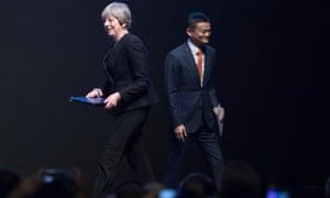 Theresa May and Jack Ma