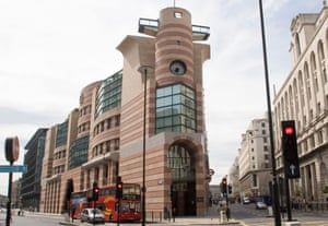 No 1 Poultry in Fenchurch Street, London, designed by Terry Farrell. A recent bid to have it listed was turned down.