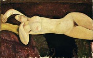 No restless searching … Reclining Nude, 1919.