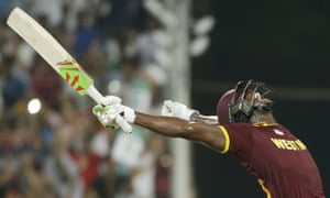 West Indies Carlos Brathwaite screams with delight after they defeated in England in the final.