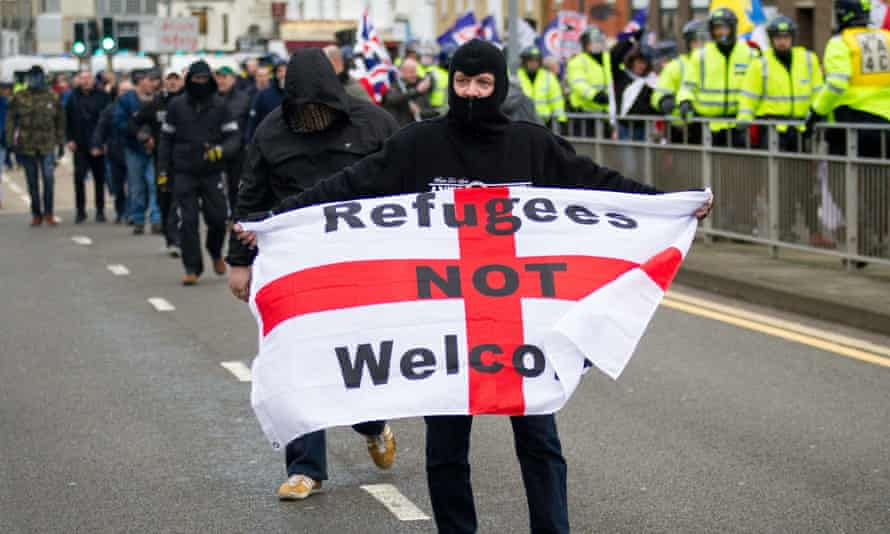An anti-immigration march in Dover earlier this year