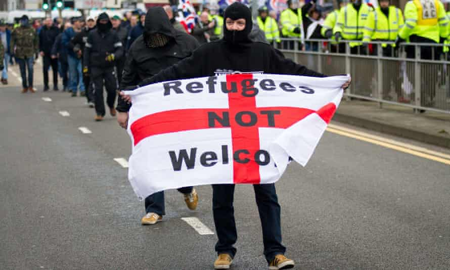 Anti-immigration demonstration in Dover last year organised by far-right groups.