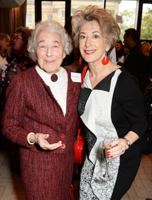 Kerr and the actor Maureen Lipman at the Women of the Year lunch in London in 2014
