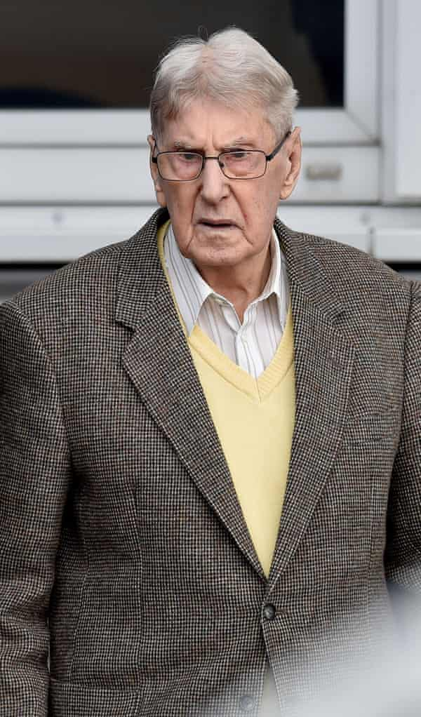 Former Auschwitz SS guard Reinhold Hanning.