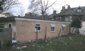An outbuilding rented to multiple tenants.