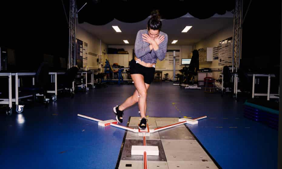 Claire Rafferty goes through tests at the University of Roehampton as part of research into ACL injuries.
