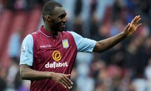 Christian Benteke says goodbye to the Aston Villa fans.