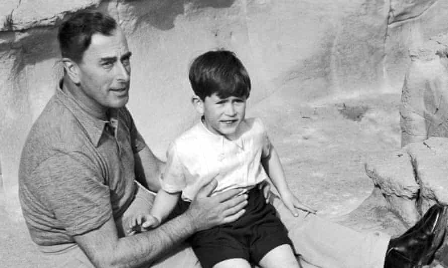 Louis Mountbatten with Prince Charles in 1954