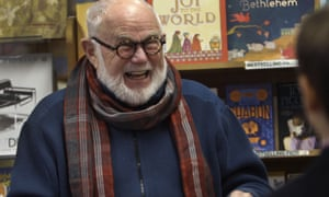 Tomie dePaola in a New Hampshire bookshop, 2013. His picture books are memorable for both the drawings and the words.