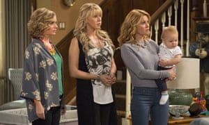 The gang's all here (except for Mary-Kate and Ashley): Andrea Barber, Jodie Sweetin, and Candace Cameron Bure in Fuller House