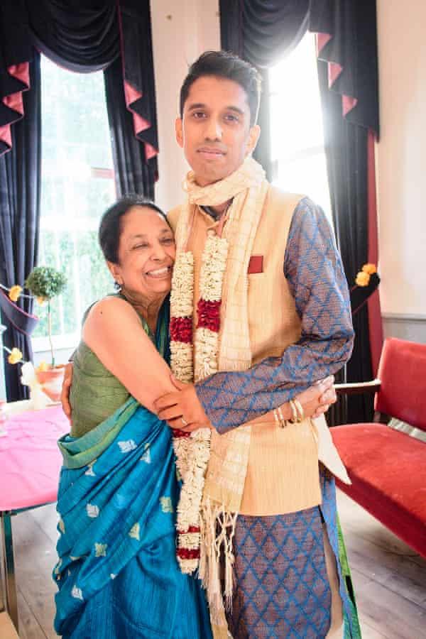 'Stay sharp, mischievous and free': Arati Chakrabortty and her son Aditya on his wedding day, 2017.
