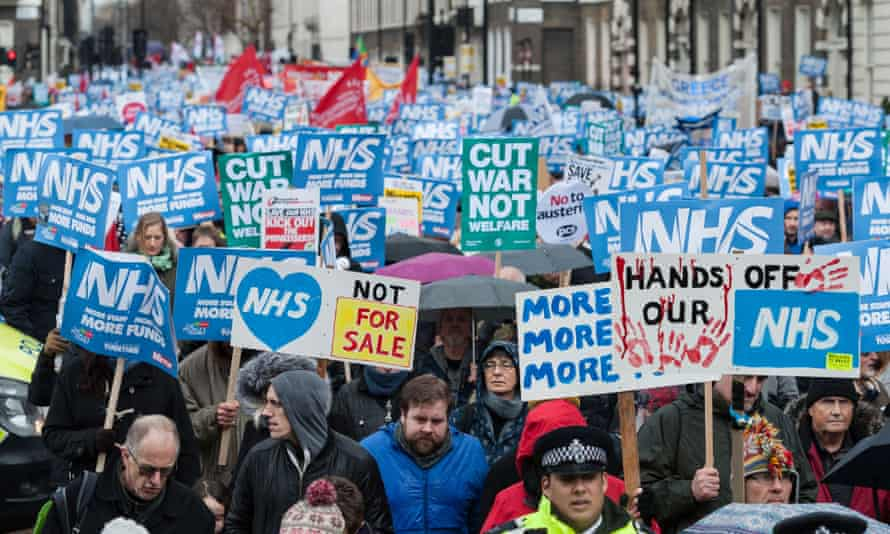 Demonstration for the NHS, London 3 February 2018