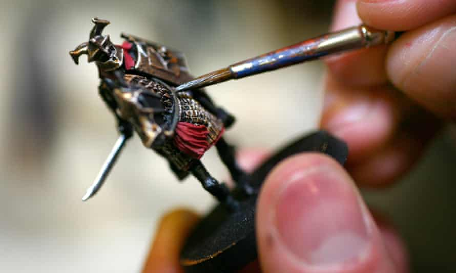 Games Workshops sells miniature armies made of tin and plastic that fans can paint.
