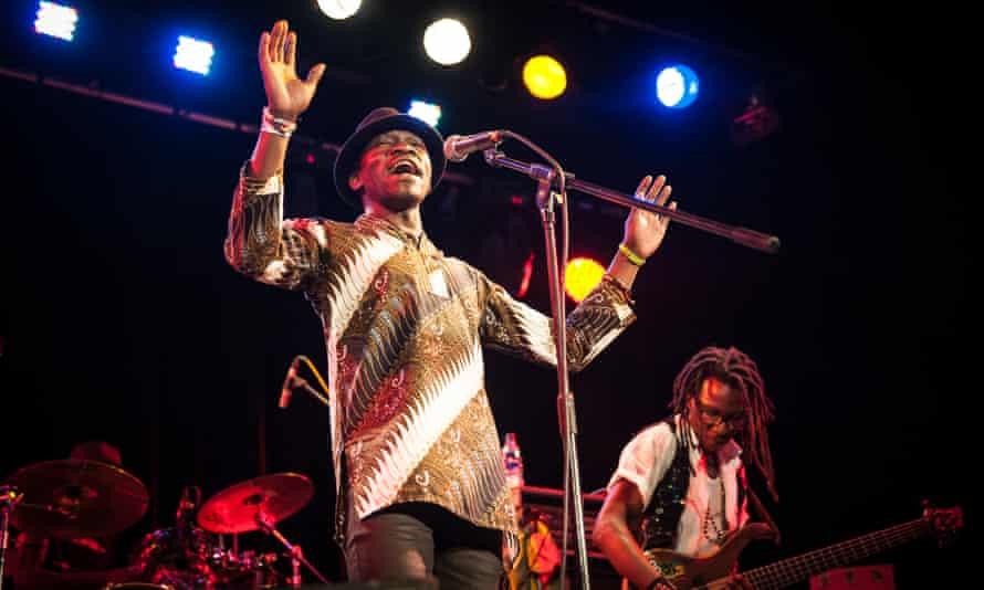 Natural entertainer … Mokoomba's Mathias Muzaza at 229 the Venue, London