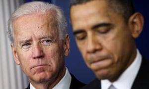 Joe Biden asks Barack Obama at the White House in December 2012.