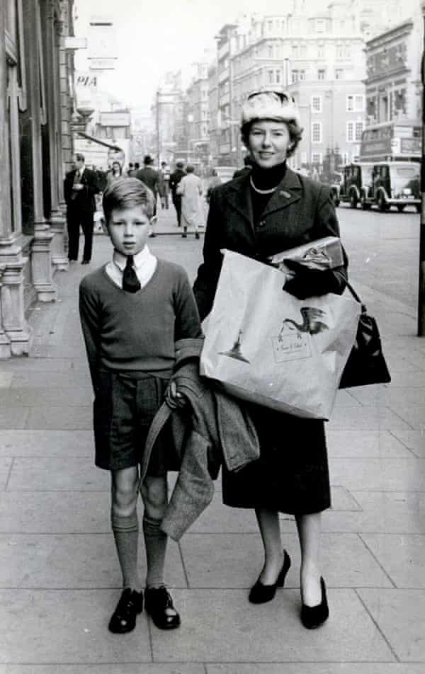 Molly Drake and Nick Drake on Piccadilly, London, in 1956.