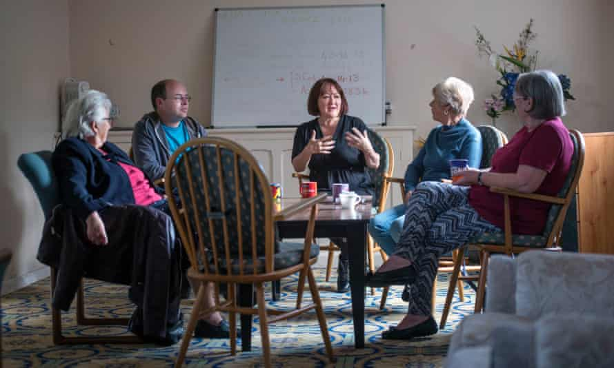 McCarthy meets with constituents at a coffee morning at Hungerford Road community centre, Bristol.