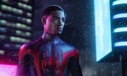 Different dimensons to his struggles … Spider-Man: Miles Morales.