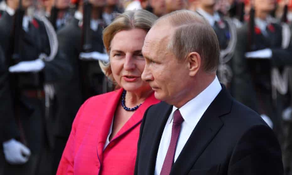 Karin Kneissl and Vladimir Putin in Vienna