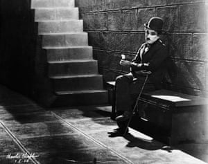 Charlie Chaplin in his film debut Lonely Tramp