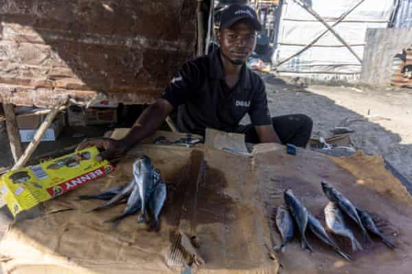 Thobile Gwame, 24, a fishmonger and resident of Praia Nova in Beira, says business is slow after Cyclone Idai