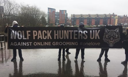 Members of the the Wolf Pack Hunters UK