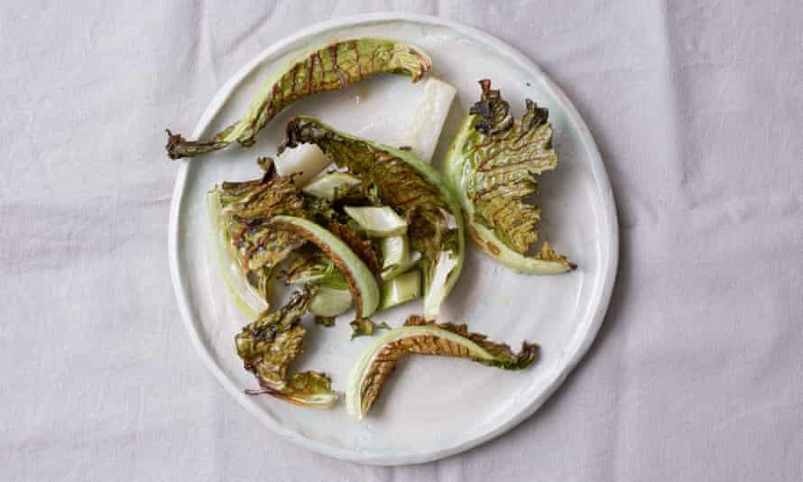 Tom Hunt's roasted cauliflower leaves.