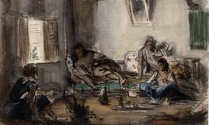 Algerian interior by Eugène Delacroix