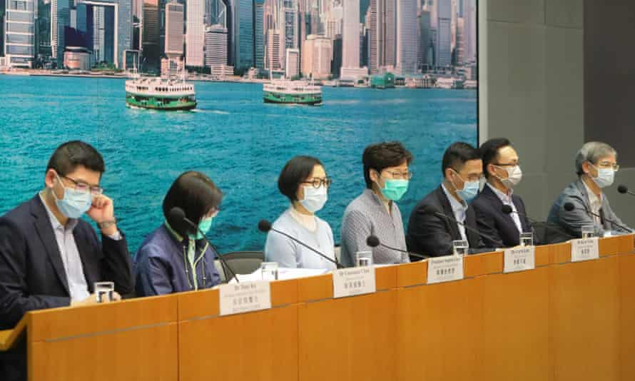 Hong Kong Chief Executive Carrie Lam Holds News Conference on March 21, 2020 in Hong Kong, China.