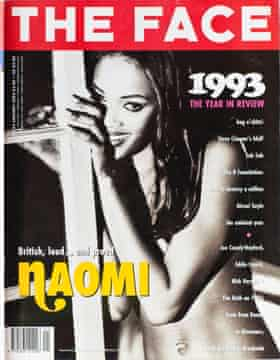 Naomi Campbell on the cover of the Face in 1994